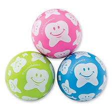 Happy Tooth Print Bouncing Balls